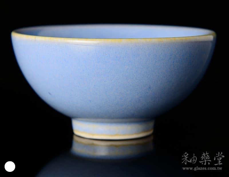 陶藝HGB-14-淡乳白藍釉藥GB14-glaze-1