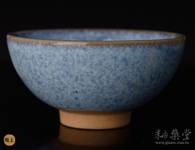 陶藝HGB-14-淡乳白藍釉藥GB14-glaze-pottery-clay-2