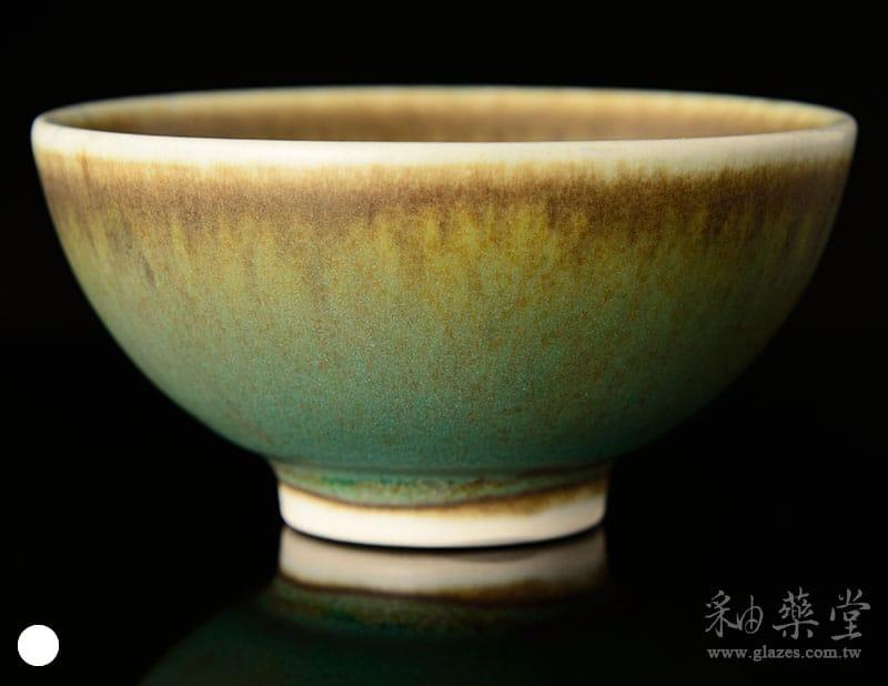陶藝ART-04-無光灰墨綠釉藥