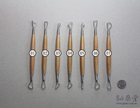陶藝工具AT06-修坯刀組(8吋)(7支1組)(常見款式)Ribbon_Tools_07_12