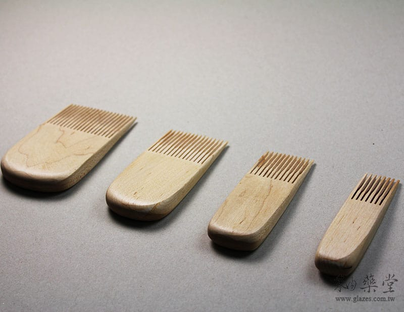陶藝工具BT32 木櫛組(4支1套)pottery_Wooden_Comb_02_05