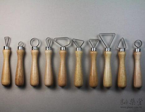 AT26陶藝大頭刮刀/修坯刀組工具(10支1組)