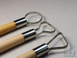 陶藝工具AT16 大頭刮刀/修坯刀-B款(7吋)(3支1套)pottery_looped_tool_11_02