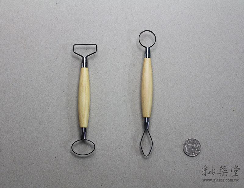 陶藝工具 AT04 大頭刮刀/修坯刀(短柄)(7吋)