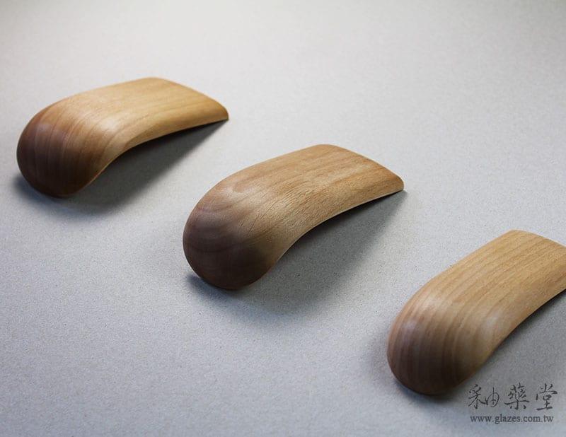 陶藝工具PT12 牛舌修坯器(短型)Long_Wooden_Throwing_Tool_02_01