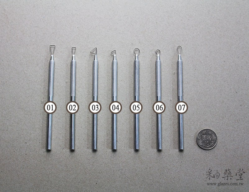 陶藝工具AT18-鋁柄修坯刀(5吋)Miniature_Ribbon_Sculpting_Tool_Set_23