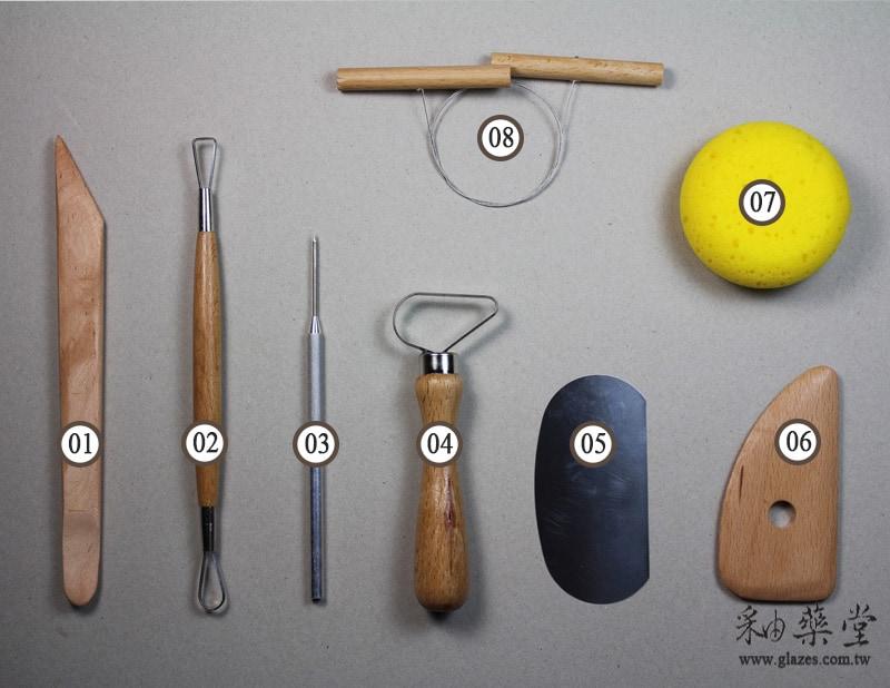 陶藝工具 AC02-拉坯工具組(8件1套)(臺灣製)Pottery_Tool_Set_throw_clay_1_Taiwan_01-1