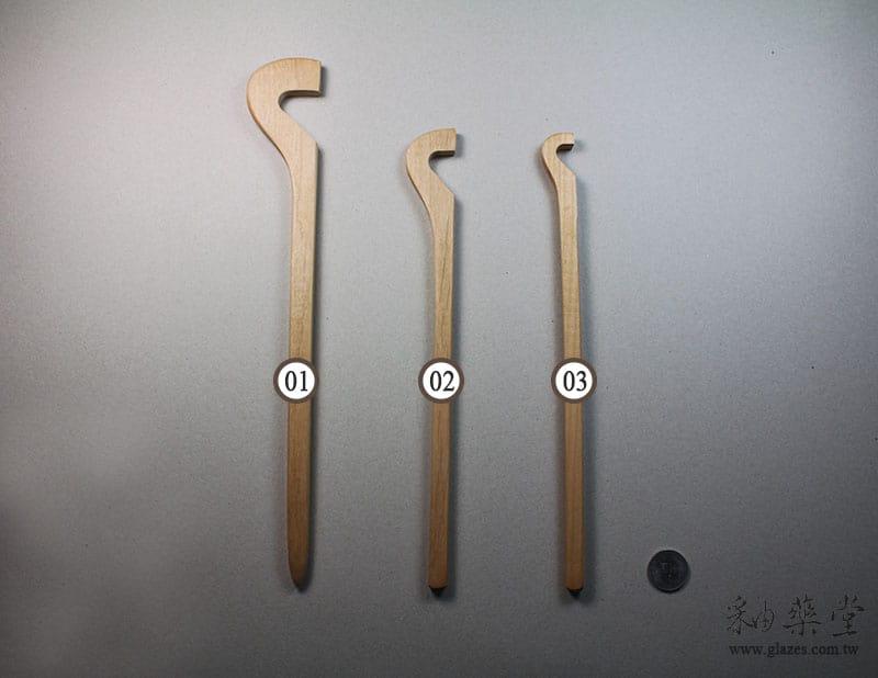 陶藝工具PT13 木柄抹板-A款Throwing_Sticks_03_03