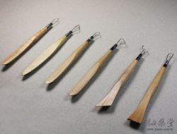 陶藝工具 DW07 鋼絲木刀兩用組(6吋)(6支1組)pottery-Wire-Tool-02-01