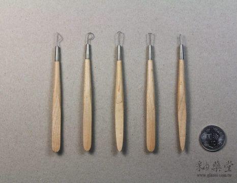 陶藝工具DW08 鋼絲木刀兩用組(4吋)(5支1組)pottery-Wire-Tool-03-01