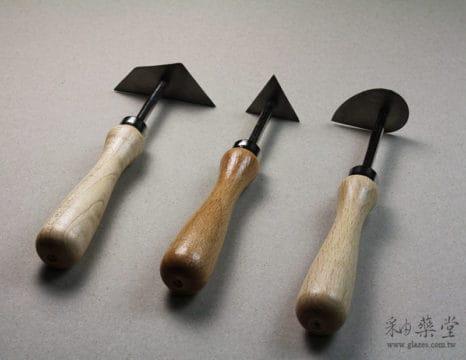 陶藝工具KT62 車刀組(短)(3支1組)Stem_Turning_Tool_02_01