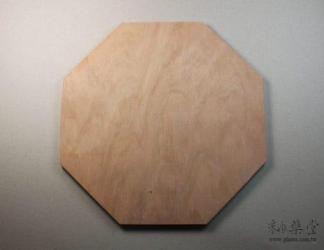 陶藝工具XT06-八角木板/規板(有腳)pottery-board-01-01
