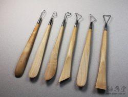 陶藝工具DW06 鋼絲木刀兩用組(8吋)(6支1組)Wire-and-Wood-Tools-DW06-02