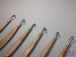 陶藝工具AT12 修坯木刀兩用組(6吋)(6支1組)Ribbon-and-wood-Tools-RT12-01
