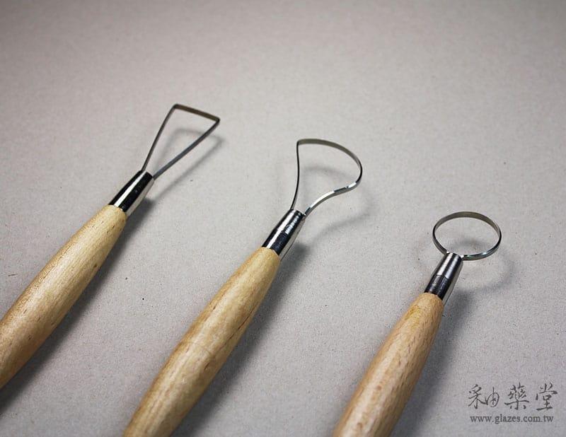 陶藝工具AT01-大頭刮刀/修坯刀(10吋)(3支1套)pottery-looped-tool-17-04