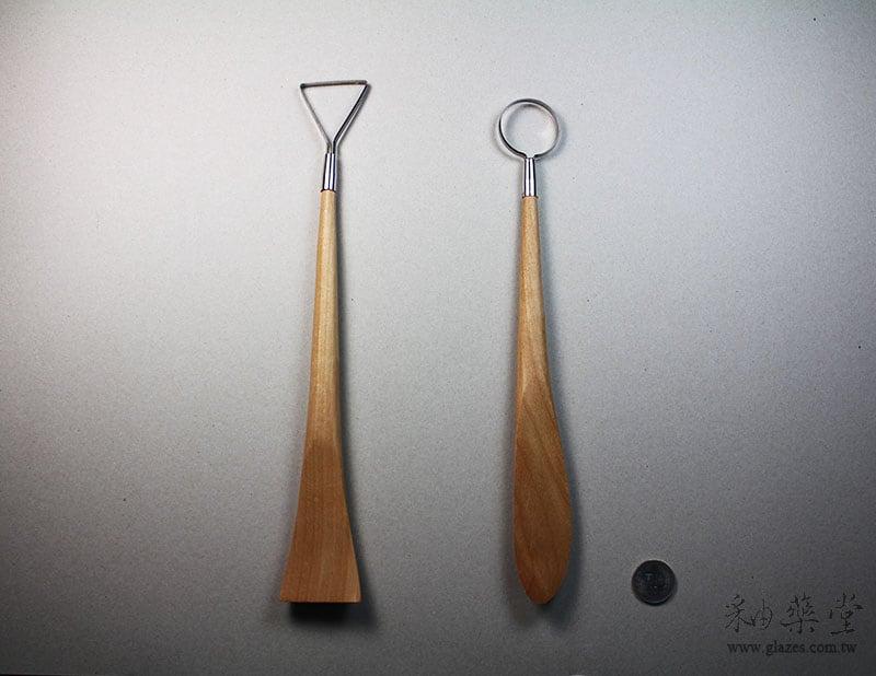 陶藝工具AT19 修坯木刀兩用組(12 3/4吋)(2支1組)pottery_looped_tool_19_03