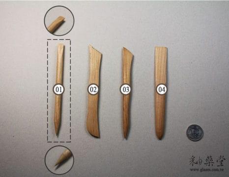 陶藝工具BT18-基本木刀組(6吋)