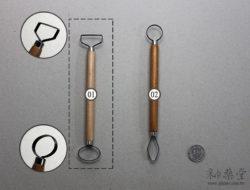陶藝工具AT03 大頭刮刀/修坯刀(長柄)(8吋)pottery_looped_tool_15_02
