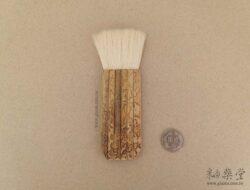 PE06-02-白羊毛竹柄排刷/排筆(毛寬約4cm)1
