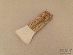 PE06-02-白羊毛竹柄排刷/排筆(毛寬約4cm)2
